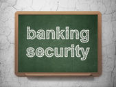 Protection concept: Banking Security on chalkboard background — Stock Photo