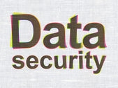 Protection concept: Data Security on fabric texture background — Stock Photo