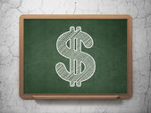 Currency concept: Dollar on chalkboard background — Stock Photo