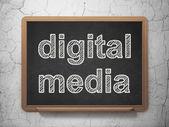 Marketing concept: Digital Media on chalkboard background — Stock Photo