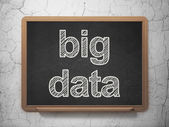 Information concept: Big Data on chalkboard background — Stock Photo