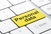 Information concept: Personal Data on computer keyboard background — Foto Stock