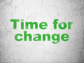 Timeline concept: Time for Change on wall background — Stock Photo