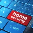 Privacy concept: Home Security on computer keyboard background — Stock Photo