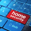 Privacy concept: Home Security on computer keyboard background — Stock Photo #35585281