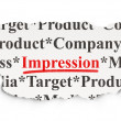 Marketing concept: Impression on Paper background — Stock Photo