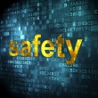 Protection concept: Safety on digital background — Stock Photo #35585397