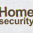Stock Photo: Safety concept: Home Security on fabric texture background
