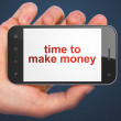 Timeline concept: Time to Make money on smartphone — Stock Photo #35586099