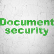 Protection concept: Document Security on wall background — Stock Photo