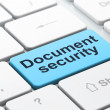 Protection concept: Document Security on computer keyboard background — Foto de Stock