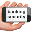 Security concept: Banking Security on smartphone — Stock Photo