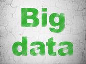 情報概念: 壁の背景に大きなデータ — ストック写真