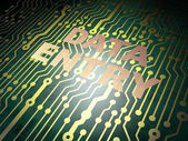 Data concept: circuit board with Data Entry — Stock Photo