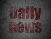 News concept: Daily News on grunge wall background — Foto Stock