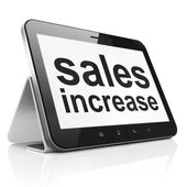 Marketing concept: Sales Increase on tablet pc computer — Stock Photo