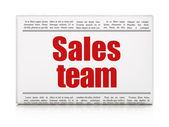 Advertising news concept: newspaper headline Sales Team — Stock fotografie