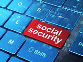 Safety concept: Social Security on computer keyboard background — Stock Photo