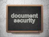 Privacy concept: Document Security on chalkboard background — Stock Photo
