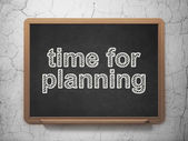 Timeline concept: Time for Planning on chalkboard background — Stock Photo