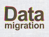 Data concept: Data Migration on fabric texture background — Stock Photo