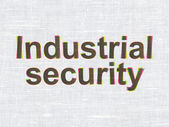 Safety concept: Industrial Security on fabric texture background — Stock Photo