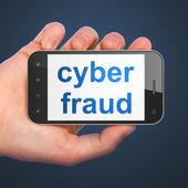 Privacy concept: Cyber Fraud on smartphone — ストック写真
