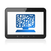 Education concept: Computer Pc on tablet pc computer — Stockfoto