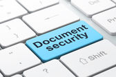 Protection concept: Document Security on computer keyboard background — Stock Photo
