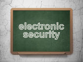 Security concept: Electronic Security on chalkboard background — Stock Photo