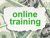Education concept: Online Training on Money background — Stockfoto