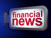 Nieuws begrip: financiële nieuws op billboard achtergrond — Stockfoto
