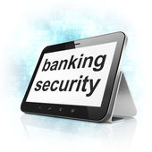 Safety concept: Banking Security on tablet pc computer — Stock Photo