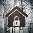 Protection concept: circuit board with Home — Stock Photo