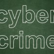 Security concept: Cyber Crime on chalkboard background — Foto Stock