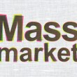 Marketing concept: Mass Market on fabric texture background — Stock Photo