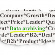 Data concept: Data Archiving on Paper background — Stock Photo