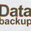 Stock Photo: Datconcept: DatBackup on fabric texture background