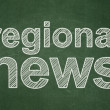 News concept: Regional News on chalkboard background — Foto Stock