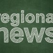 News concept: Regional News on chalkboard background — Stockfoto