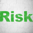 Finance concept: Risk on wall background — Stock Photo