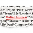 Business concept: Online Business on Paper background — Stock Photo