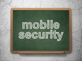 Security concept: Mobile Security on chalkboard background — Stock Photo