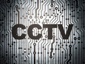 Security concept: circuit board with CCTV — Stockfoto