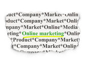 Marketing concept: Online Marketing on Paper background — Stock Photo