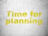 Timeline concept: Time for Planning on wall background — Zdjęcie stockowe