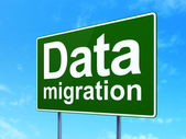 Data concept: Data Migration on road sign background — Fotografia Stock