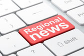 News concept: Regional News on computer keyboard background — Foto de Stock