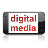 Marketing concept: Digital Media on smartphone — Stock Photo