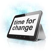 Conceito de tempo: tempo de mudança no computador tablet pc — Foto Stock